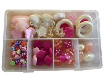 CRAFT + HOBBY BEAD SETS (B) for JEWELLERY making NECKLACES + BRACELETS DIY KIT